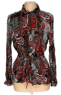 red and brown floral long-sleeved dress Fairfax, 22030