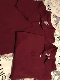 Boys 2 garnet polo shirts L(14-16) both for El Centro, 92243