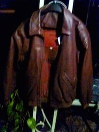 brown leather zip-up jacket Kalamazoo, 49001