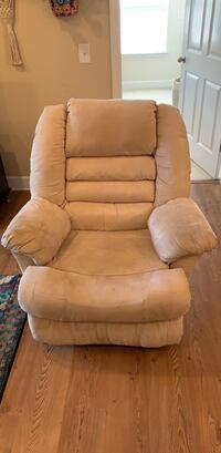 White Polyester Recliner - Price Drop