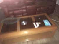 Coffee Table  glass inserts  FORTWORTH