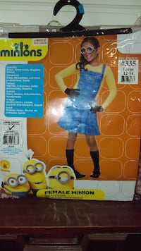 Girls Minion Dress Halloween Costume