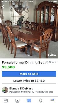 brown wooden dining table set screenshot