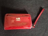 Coach dark wine patent leather wrislet Washington