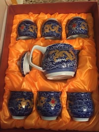 Brand new chinese themed tea set Mississauga, L5B 0G8