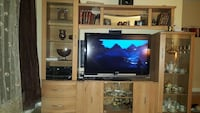 brown wooden TV hutch Montreal