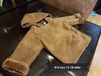 brown fabric pull over hoodie Calgary, T2J 6H9