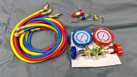 5 FT AC Diagnostic Manifold Freon Gauge Set for R [TL_HIDDEN]  Refrigerants, with Couplers and ACME Adapter Buena Park