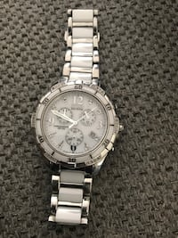Citizen Eco-drive ladies ceramic chronograph watch 860 mi