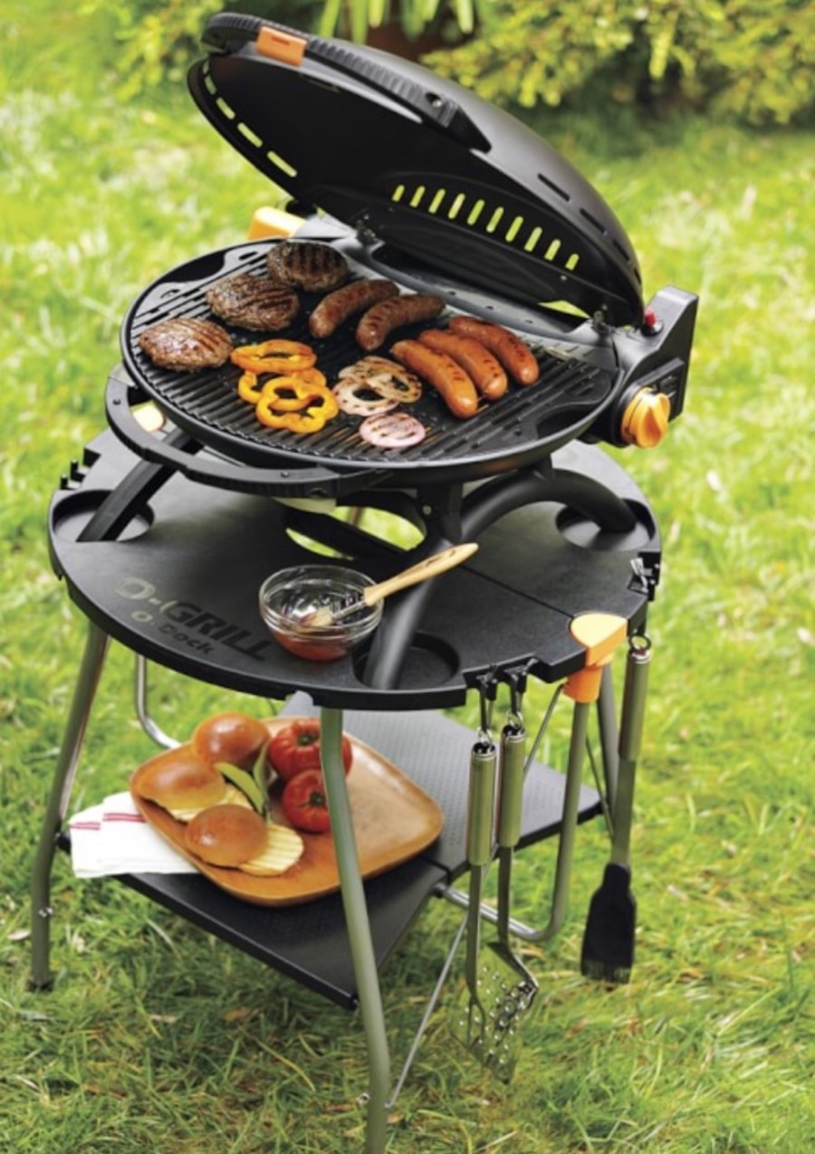 Used O-Grill O-Dock Collapsible Table for O-Grill Portable Barbecue ...