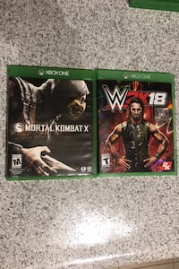 Xbox One Fighter Games Bundle: Mortal Kombat X; WWE 2K18 Fairfax, 22030