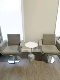 Grey swivel fabric chairs  Toronto, M5A 1X5