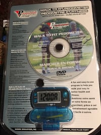 Pedometer with DVD and CD