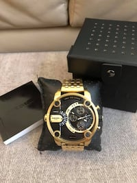 (RESERVED) Diesel Men's Little Daddy Gold-Tone Watch Markham, L3P