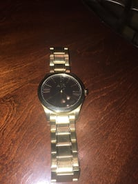 Armani X stainless steel gold brushed watch Taylor, 48180