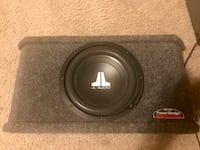 "JL audio 10"" sub in power wedge JL box and JL amp. Spring Hill, 37174"