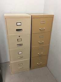 two brown metal 4-drawer filing cabinets Richmond, V7E 1N8