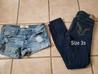 two blue and black denim jeans Las Cruces, 88012