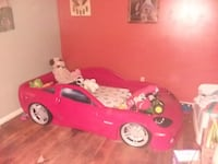 red and black car bed frame Vale