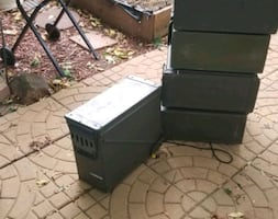 Ammo Boxes  lrg  10$ each or 5bx for 45.