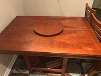 rectangular brown wooden table with two chairs San Antonio, 78259
