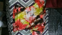 yellow, red, and green floral scoop neck shirt Wichita