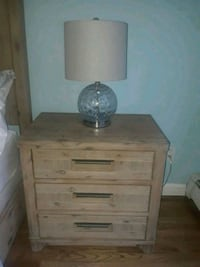 Nightstand with glass lamp  Queens, 11385