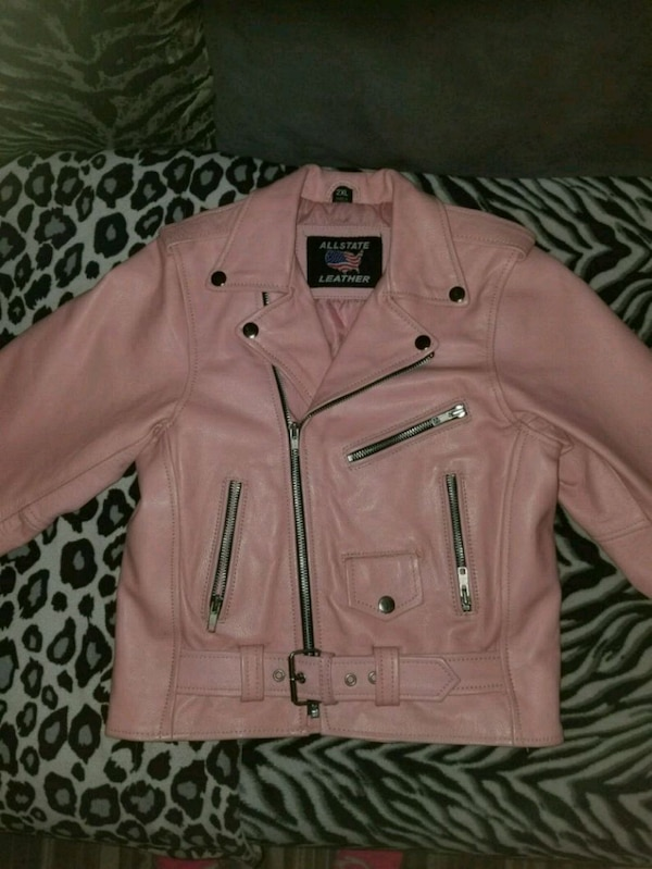 2ffa1754970 Used Girls size 2XL real leathet jacket see description for sale in ...