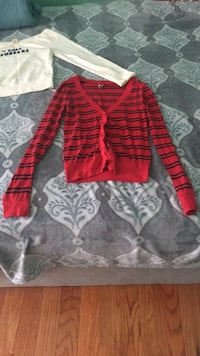 red and gray long sleeve shirt Stafford, 22554