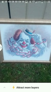 Beautifully framed clown print. Victoria, V9A 7C5