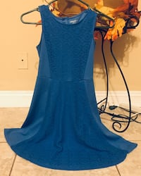 Size L 10/12 Blue Dress with Lace down the middle  Las Vegas, 89123