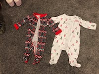 Size 6-9 and 9m Christmas pjs wear them on the same time  Boyds, 20871