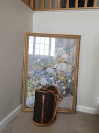 brown wooden framed painting of flowers Stephens City, 22655