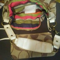 white, red, and green leather shoulder bag Independence, 70443