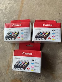 Entire lot of New Canon 221 4 pack printer ink