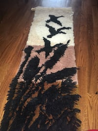 Black and white floral area rug for wall  Ottawa, K1T 4C9