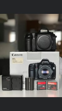 Canon 5D, battery, charger and 2SD cards.