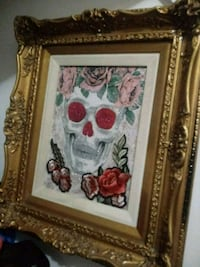 white and red floral painting San Angelo, 76903