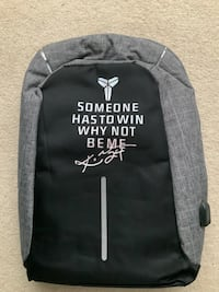 Kobe Bryant Mamba embossed quote backpack