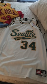 white and green #34 Seattle Sonics jersey Lubbock, 79416