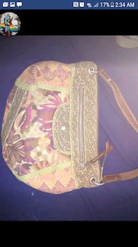 pink and brown floral crossbody bag Boone, 50036