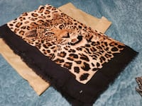 Brown & Black Leopard Print Scarf Bowie, 20715