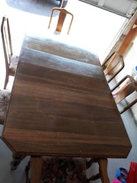 Oak table with 6 chairs  Princeton, N0J 1V0