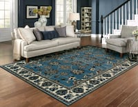 blue and white floral area rug Silver Spring, 20905