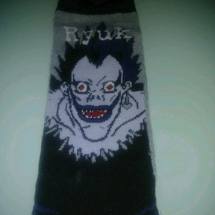 NEW: 1 pair Death note ONE SIZE FITS MOST socks  U