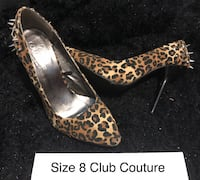 Pair of brown-and-black leopard print pumps club couture  3727 km