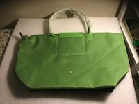green hand bag tote French longchamp new was $&399