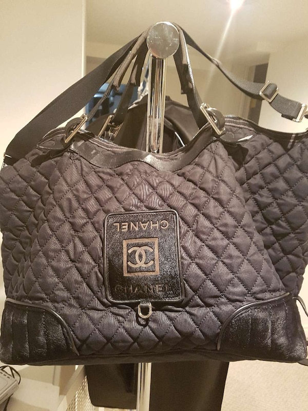 c9735526df60 Used black Chanel two way bag for sale in Toronto - letgo