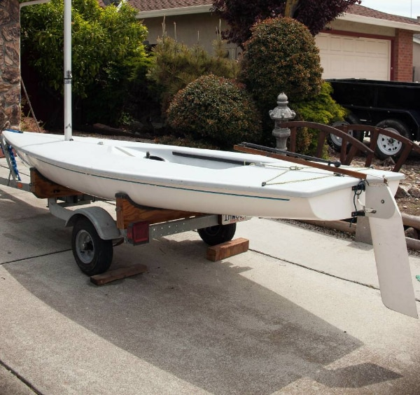 ►LASER sailboat w/ Custom Trailer AND Dolly