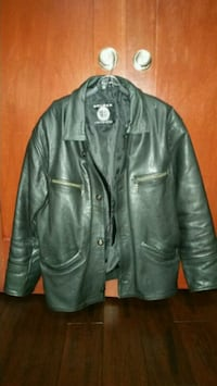 black leather button-up jacket Rockford, 61114